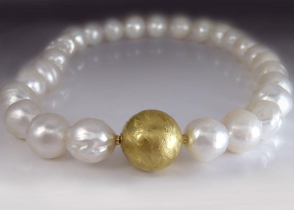 Gold Bead Pearl Bracelet Clasp