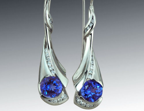 Long Tanzanite Earrings