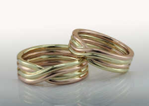 Two Tone Twist Woven Bands Set
