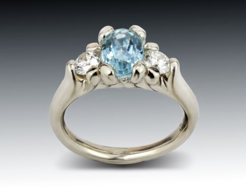 Three Stone Aqua Ring
